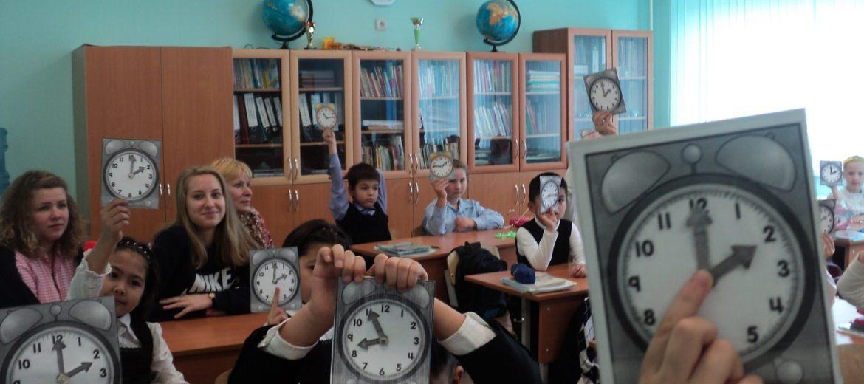 Студенты педагогического колледжа на уроке математики