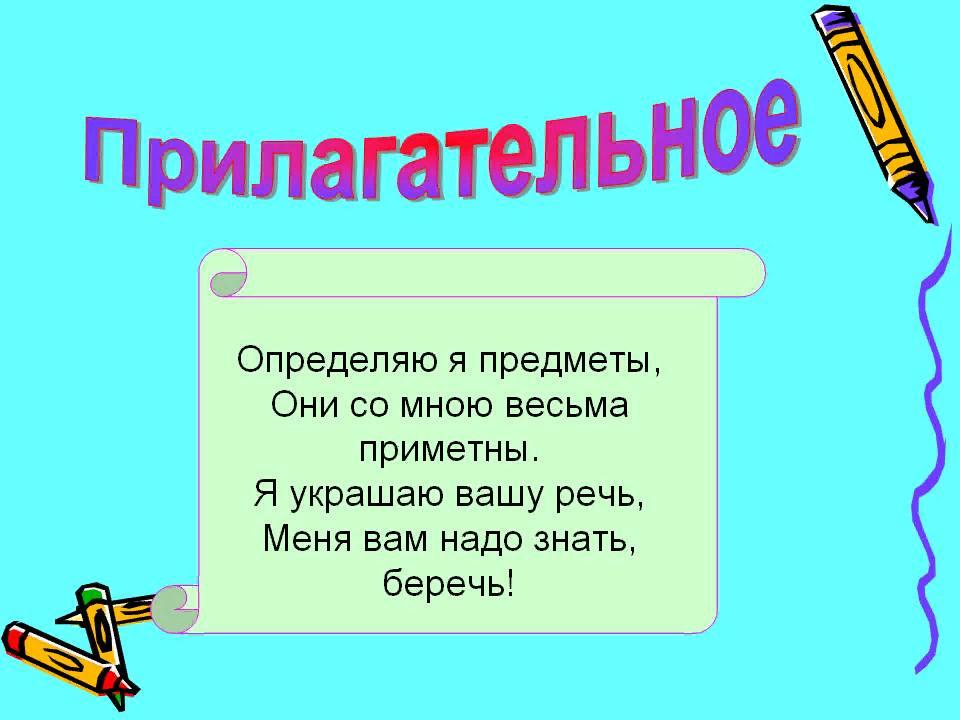 Урок русского языка 2 класс. Тема: Что такое прилагательное